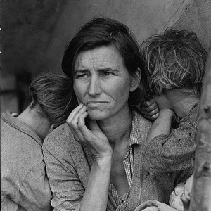 photot taken by Dorothea Lange