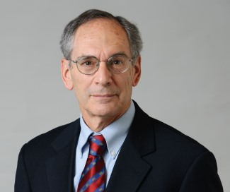 Richard Brown, distinguished professor emeritus of history, on Jan. 16, 2014. (Peter Morenus/UConn Photo)