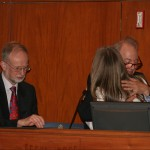 Prof. Joel Blatt presents the Andrew W. Pyper Scholarship to Katherine Hoskin