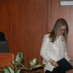 Katherine Hoskin accepts the Andrwe W. Pyper Scholarship