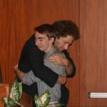 Prof. Ricardo Salazar-Rey presents the Andrew W. Pyper Scholarship to Jeremy Timperanza