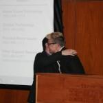 Matthew Guariglia accepting the Bruce M. & Sondra Astor Stave Prize in Recent American History