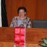 Director of Graduate Studies Prof. Janet Watson begins the 2016 Phi Alpha Theta induction ceremony