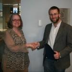 Prof. Nancy Shoemaker and Nathan Braccio