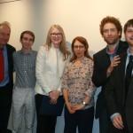 Left to right: Prof. Joel Blatt, Jeremy Timperanza, Katherine Hoskin, Prof. Sylvia Schafer, Prof. Ricardo Salazar-Rey, Zachary Stack