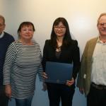 Prof. Emeritus Bruce Stave, Sondra Astor Stave, Yang Zheng, Prof. Peter Zarrow