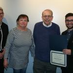 Prof. Micki McElya, Sondra Astor Stave, Prof. Emeritus Bruce Stave, Matthew Guariglia