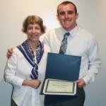 Prof. Sherri Olson and Harrison Fregeau
