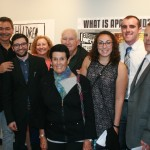Award winners Matthew Guariglia, Harrison Fregeau, and families