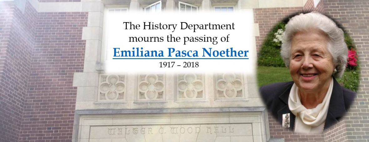 Emiliana Pasca Noether, 1917 - 2018