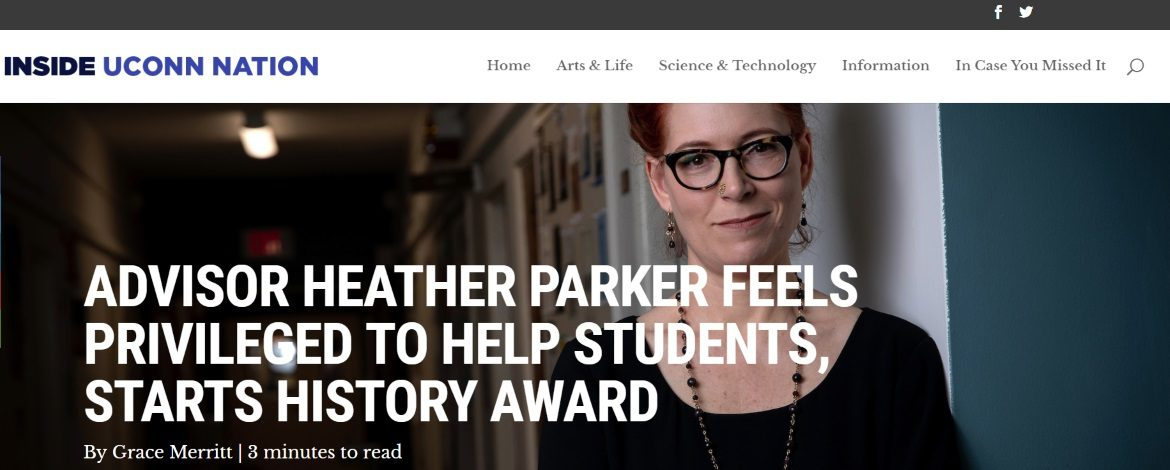 """""""Advisor Heather Parker Feels Privileged to Help Students, Starts History Award"""""""