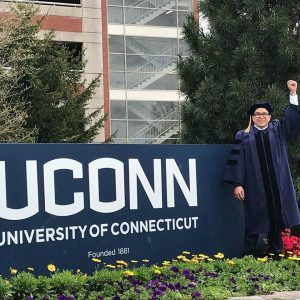 Jorell UConn graduation