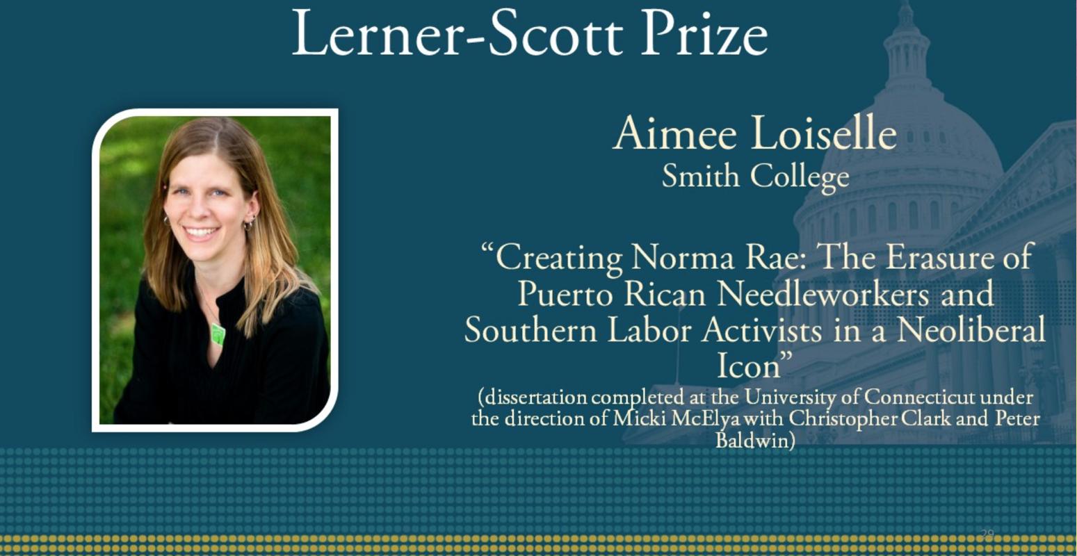 Aimee Loiselle OAH Award