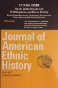 Special Edition of Journal of American Ethnic History, featuring an article by Professor Mark Overmyer Velazquez.